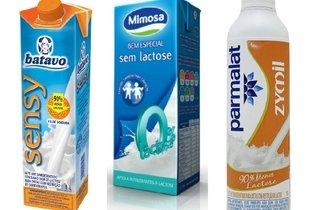 Exemplos de leite sem lactose
