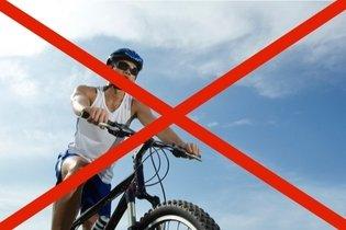 Não andar de bicicleta