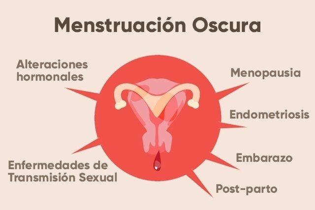 flujo cafe sin olor antes menstruacion