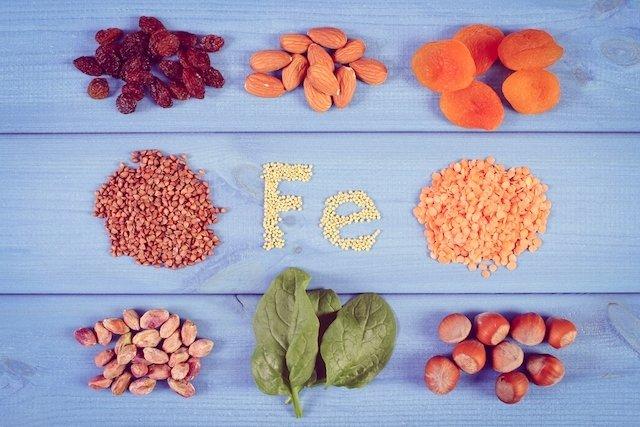 que frutas y verduras son buenas para la anemia