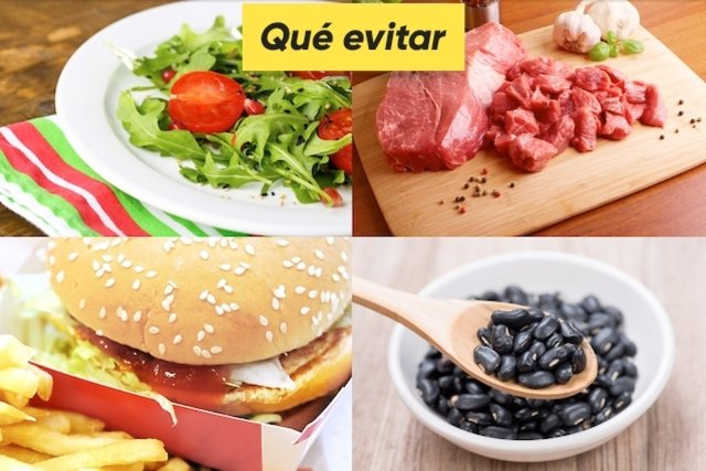 Alimentos que deben ser evitados