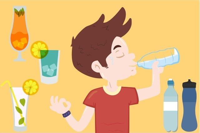 Beber bastante água e sucos de fruta.