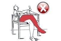 Não cruzar as pernas