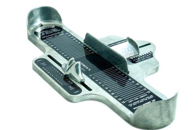 Para medir o número do sapato