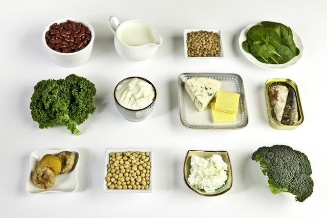 Lista de alimentos ricos em cálcio