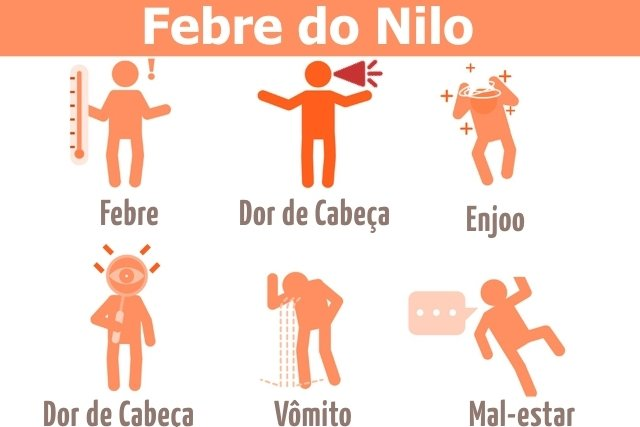 Principais sintomas causados pela Febre do Nilo