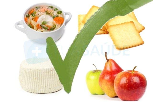 alimentos bons para comer quando esta com diarreia