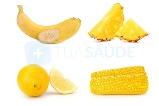 Exemplos de alimentos amarelos