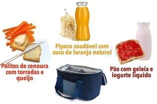 Lanche saudável da manhã