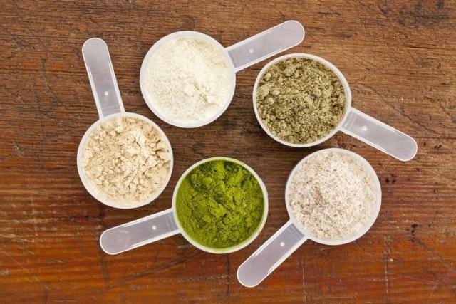 Tipos de proteina em pó para veganos