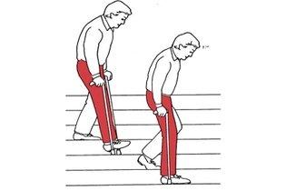 Descer escadas com muletas