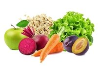 Alimentos crus e ricos em fibras