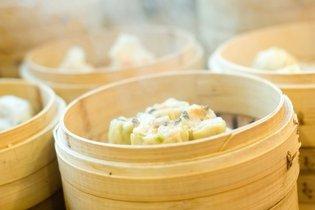 Panela de bambú a vapor