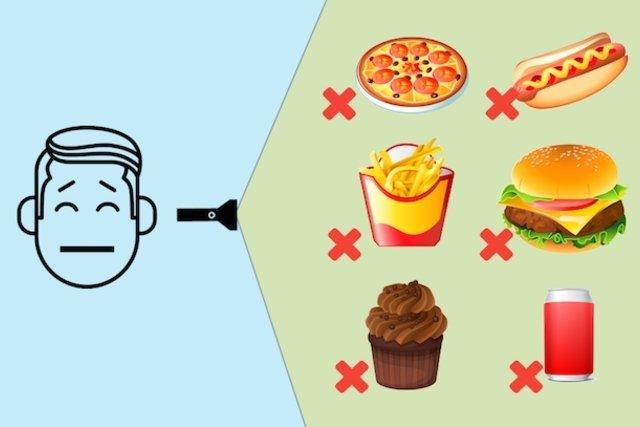 Evitar o consumo excessivo de açúcares e gorduras