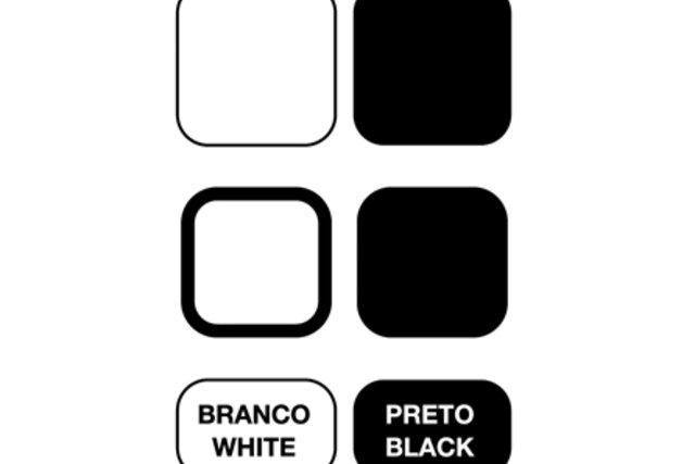 Símbolos para cores claras e escuras