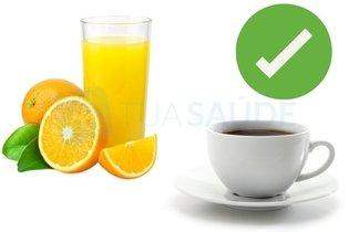 Dar suco de laranja ou café em vez de sal