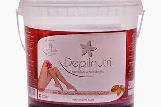 Cera depilatória com anestésico natural da marca Depilnutri