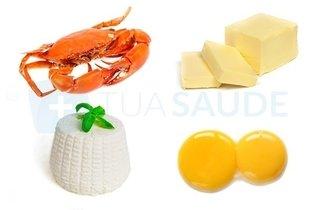 Alimentos ricos em colesterol