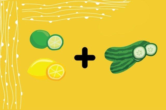Tônico para a pele de limão com pepino