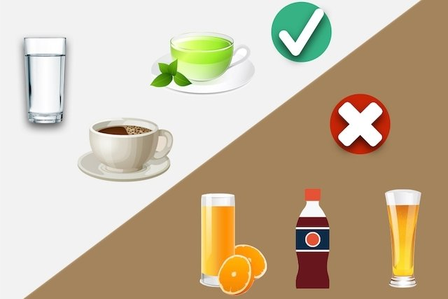 Beber água, chá ou café