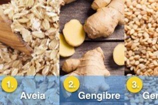 5 bons alimentos para perder barriga