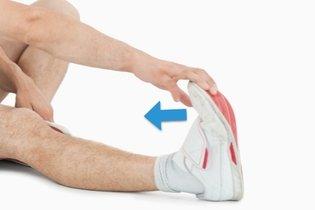 Exercício de alongamento do pé