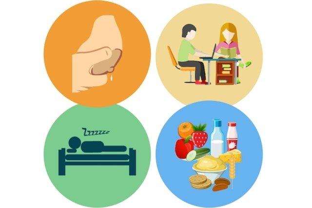 Retirar leite, aprender sobre a saúde do bebê, dormir e se alimentar bem