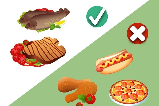 Preferir carnes cozidas ou assadas
