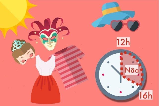 Evitar sair durante as horas de maior calor e usar roupas leves e arejadas.