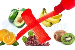 Frutas que devem ser evitadas