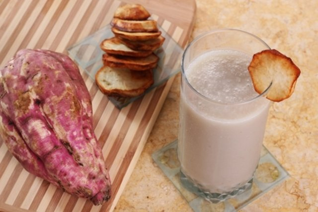 Vitamina de batata-doce e banana