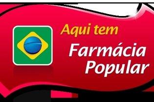 Cartaz de identificação da farmácia popular